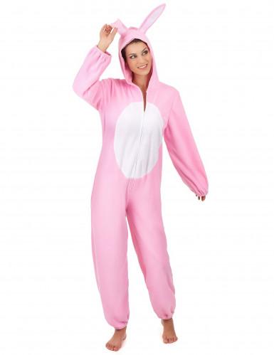 Costume da Coniglio bianco e rosa per donna