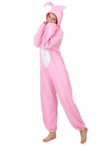 Costume da Coniglio bianco e rosa per donna-1