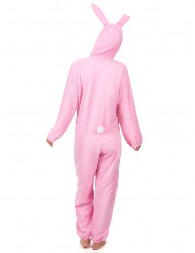 Costume da Coniglio bianco e rosa per donna-2