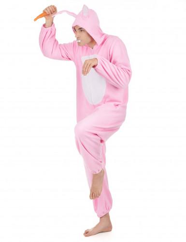 Costume Coniglio Rosa uomo-1