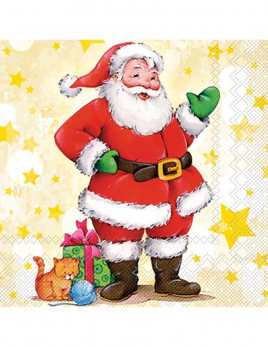 20 Tovaglioli in carta con Babbo Natale