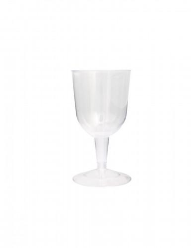 8 Bicchieri di plastica trasparente a calice