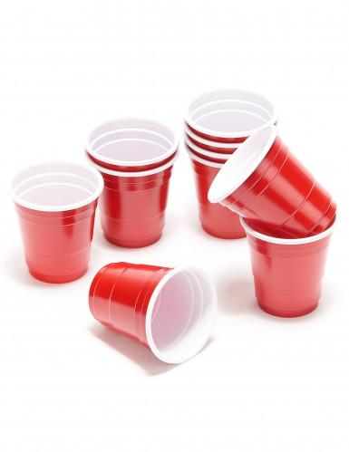 20 Bicchierini di plastica rossa-1