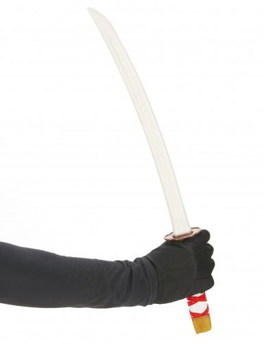 Spada ninja per bambino con fodera rossa-1