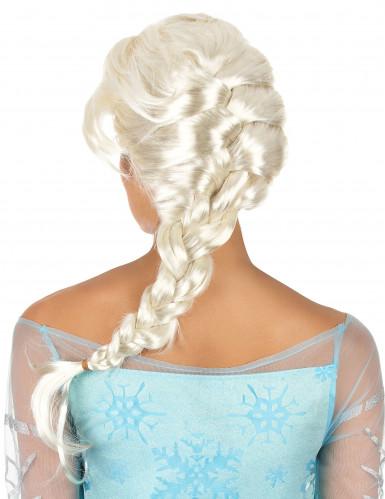 Parrucca bionda da donna con treccia lunga-1