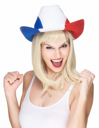 Cappello bandiera francese da cowboy-1