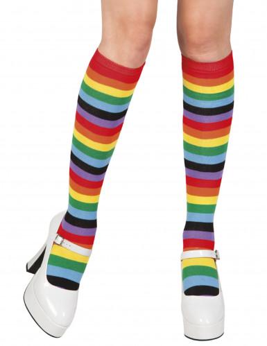 Calze nei colori dell'arcobaleno da donna
