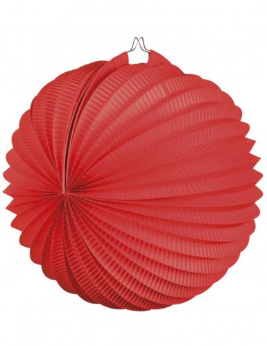 Lanterna a forma di sfera rossa 23 cm
