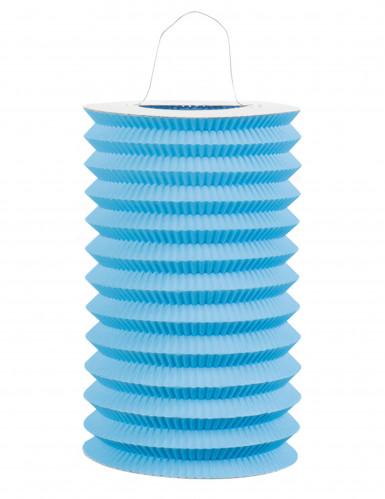 Lanterna cinese di carta azzurra