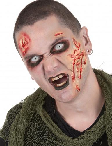 Kit trucco da zombie per adulto con lenti