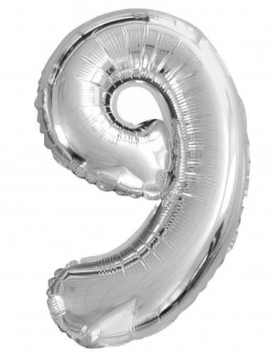 Palloncino metallizzato con numero 9