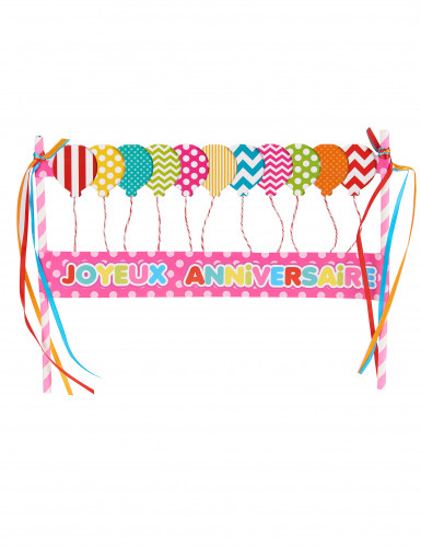 Decorazione rosa per torta felice compleanno
