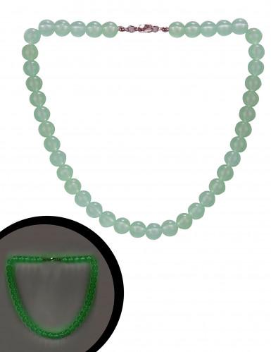 Collier verde fosforescente
