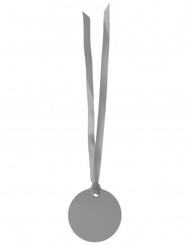 Lotto da 2 segnaposto tondi di colore grigio