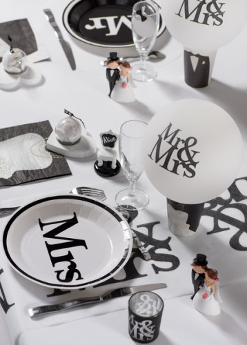 Palloncini MR & MRS bianchi per matrimonio-1