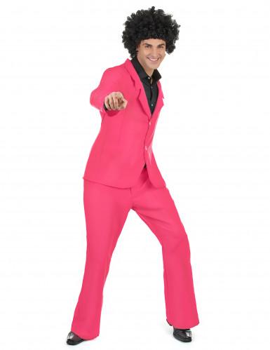 Costume disco di colore rosa per uomo