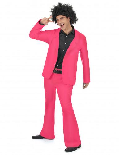 Costume disco di colore rosa per uomo-1