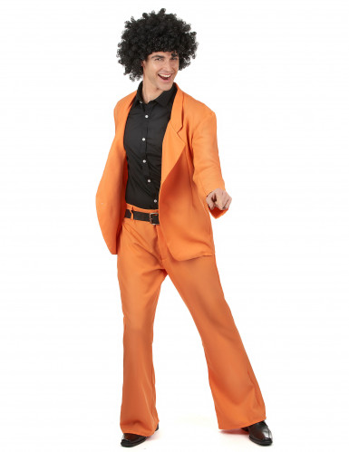 Costume Disco anni 70 arancione uomo