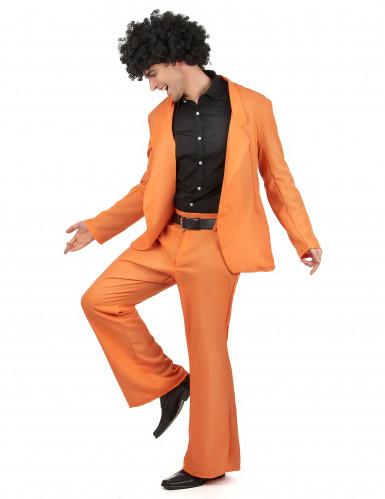 Costume Disco anni 70 arancione uomo-1