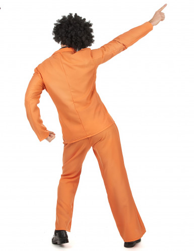Costume Disco anni 70 arancione uomo-2