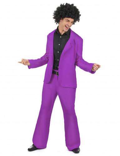 Costume disco di colore viola per uomo