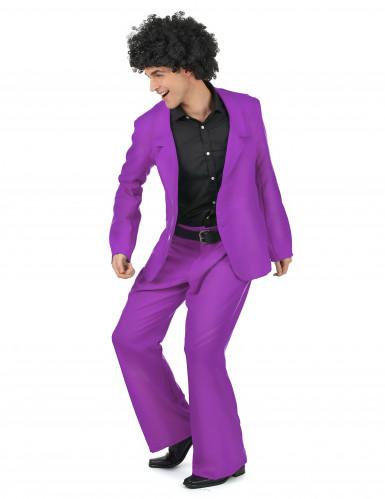 Costume disco di colore viola per uomo-1