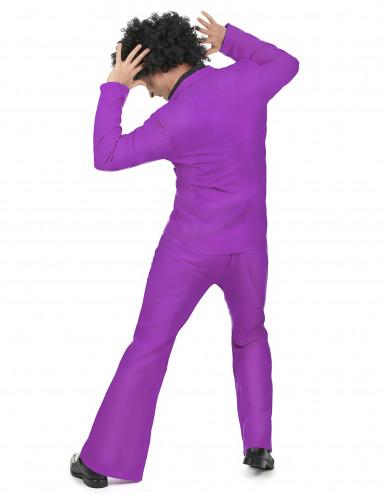Costume disco di colore viola per uomo-2