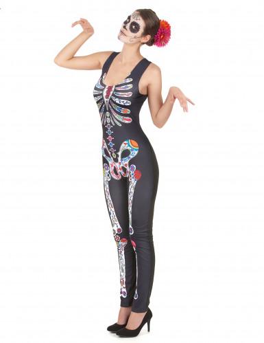 Vestito scheletro Dia de Los Muertos donna-1