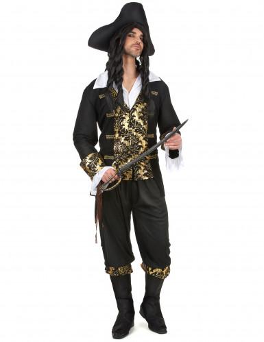 Costume uomo da corsaro nero