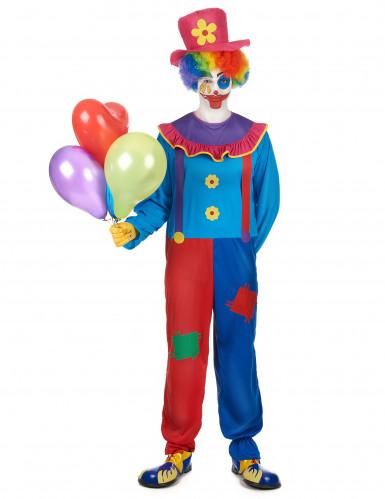 Costume colorato da clown per uomo