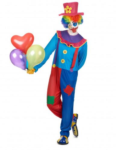 Costume colorato da clown per uomo-1