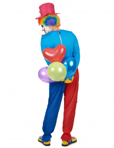 Costume colorato da clown per uomo-2