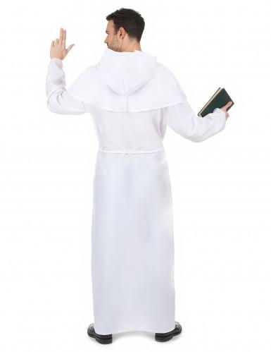 Costume da monaco per adulti colore bianco-2