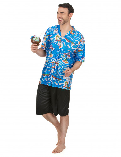 Costume da turista hawaiano da uomo-1