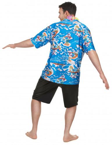 Costume da turista hawaiano da uomo-2