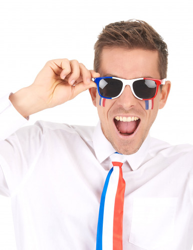 Occhiali con montatura in plastica coi colori della Francia-1