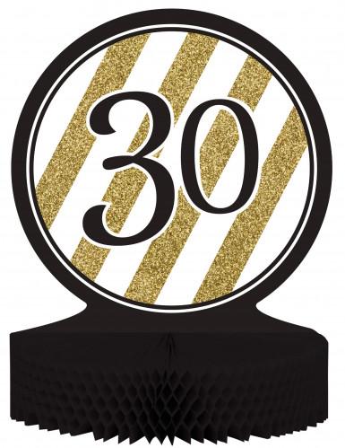 Centrotavola 30 anni nero e oro