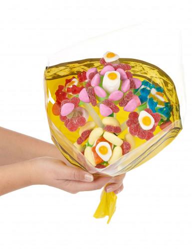 Supporto per un bouquet di caramelle con 4 fiori-1