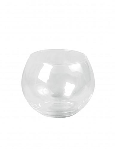 Portacandela sferico in vetro di 10 cm