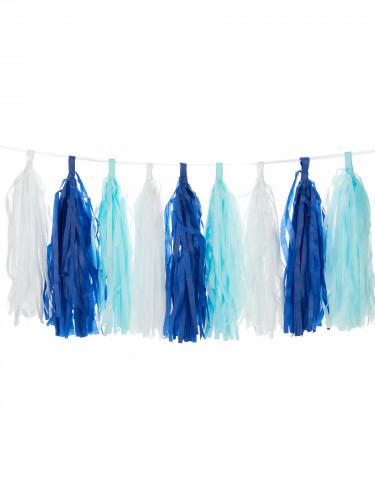 6 nappine pompon in colore blu oltremare-1