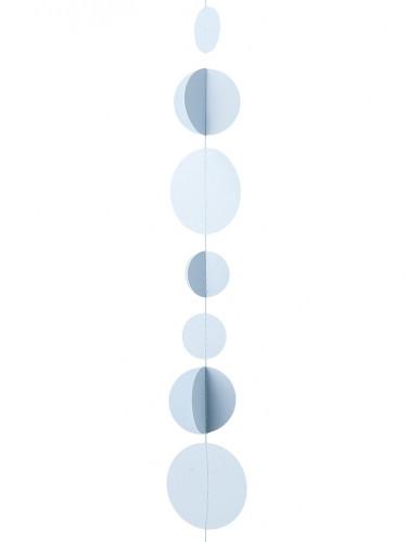 Ghirlanda effetto 3D di dischi blu 3,6 m