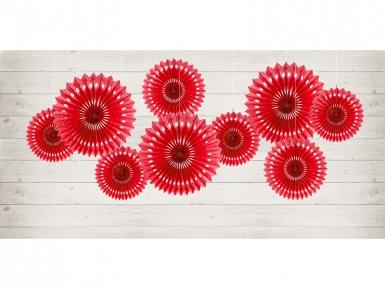 3 Ventagli rossi a forma di rosa da 20 cm 25 cm e 30 cm-1