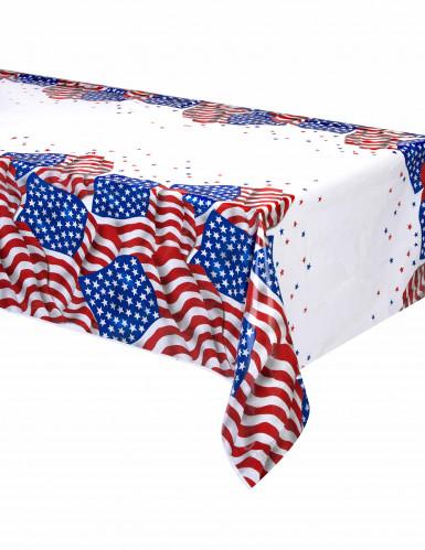 Tovaglia in plastica con i colori della bandiera USA