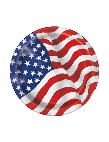 8 piatti con bandiera USA
