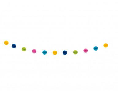 Ghirlanda con palle alveolate multicolore 213cm-1