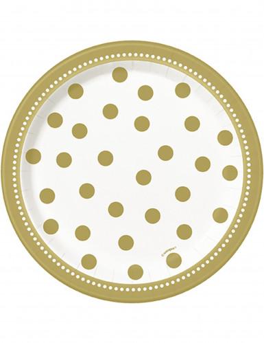 Confezione 8 piatti dorati