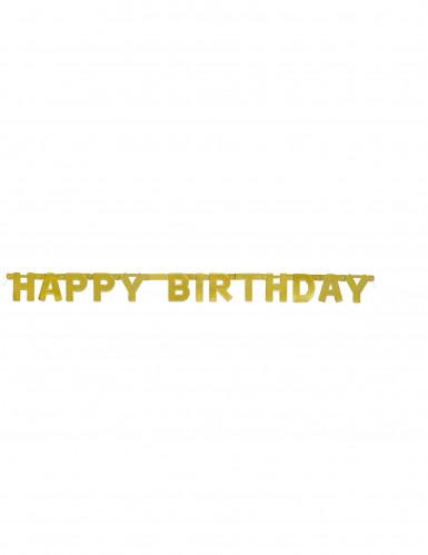 Festone dorato con scritta Happy Birthday 121 cm