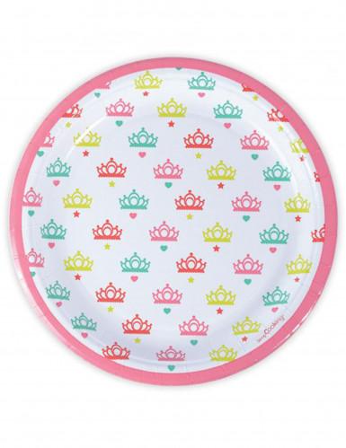 8 piatti di carta a tema principesse 23 cm