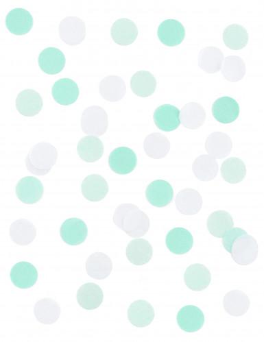 Coriandoli di carta bianchi e verde acqua-1
