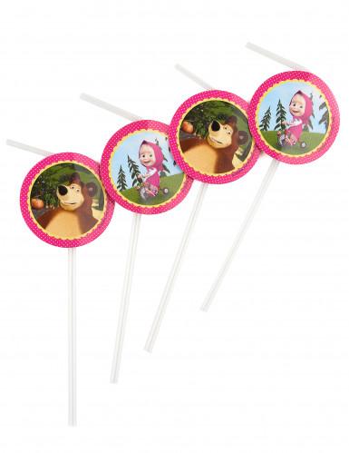 Cannucce in plastica con medaglione di Masha e Orso™
